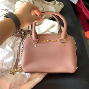 Crossbody Michael Kors mini purse Dusty rose color
